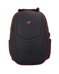Rucsac laptop Bestlife pentru gameri, negru cu rosu