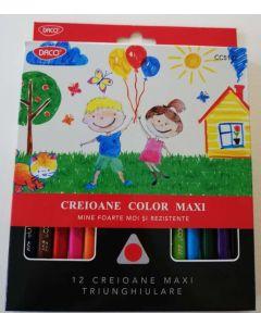 Creioane color DACO Jumbo 12 culori