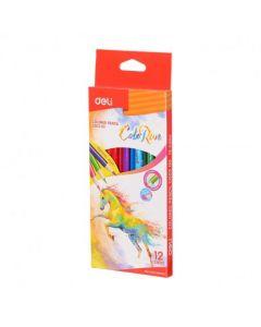 Creioane colorate 12 culori Deli