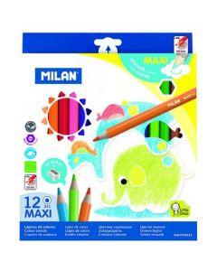 Creioane color Milan MAXI 12 culori