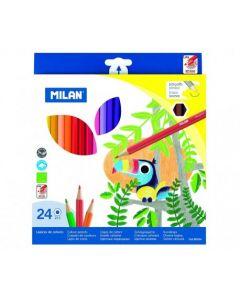 Creioane color Milan 24 culori