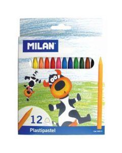 Creioane color Milan cerate 12 culori